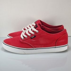 Vans Atwood Sz 10.5 Red Skate Shoes